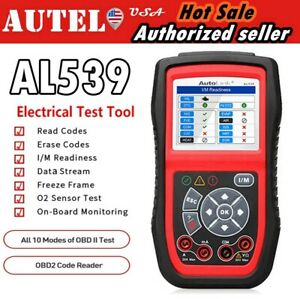 Autel Autolink Al539 Obd2 Diagnostic Code Reader Electrical Test Tool As Al539b