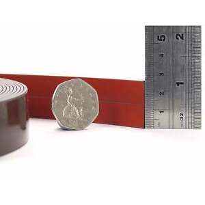 25mm Premium Self Adhesive Red Coated Flexible Magnetic Strip Tape Craft Fridge