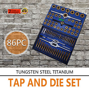 Tap And Die Set 86 Pieces Sae And Metric W storage Case Threading Tool Set Soon