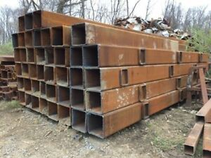 16 X 33 Square Steel Box Tube tubing 9 16 Wall Approx 128 Lbs ft