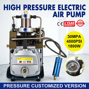 30mpa Electric Air Compressor Pump 110v 2800r min Cooling System Rotating Speed