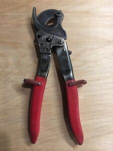 Klein Tools 63060 Ratcheting Cable Cutter Aluminum Electrician Lineman Utility