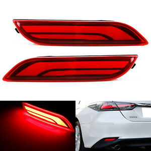 Red Lens Full Led Bumper Reflector Tail Brake Lights For 2018 Up Toyota Camry
