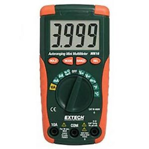 Extech Mn16a Digital Mini Multimeter Autoranging tester With Temperature Probe