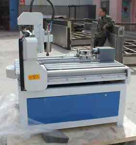 New 4 Axis 3d Rotary 6090 Cnc Router Engraver Machine Free Shippe By Sea