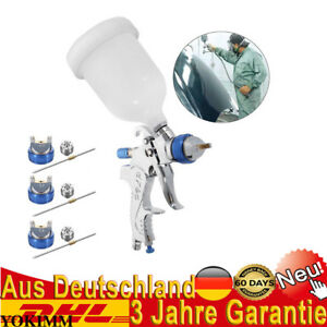 Air Paint Spray Gun Kit Hvlp Gravity Feed Primer Nozzle Touch Paintball Auto