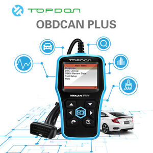Car Auto Topdon Obdcan Plus Diagnostic Tool Scanner Obd2 Ii Engine Us Ford Bmw