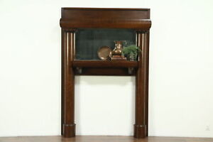 Oak Antique Architectural Salvage Fireplace Mantel Signed Titanic Family 28213