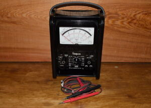 Vintage Simpson 260 Volt Ohm Milliammeter Test Meter With Leads