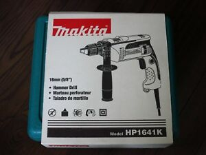 Brand New Makita Hp1641k 5 8 Corded Hammer Drill With Hard Case Free Shipping