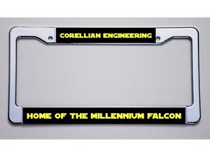 Star Wars Fan Corellian Engineering Home Millennium Falcon License Plate Frame