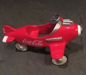 Coca Cola Miniature ( 3 1/2 Inches In Length) Coke Pedal Airplane 1997