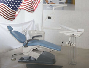 Usa To Door Dental Unit Dental Chair Computer Controlled Dc Motor W Stool Seat