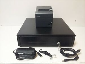 Epson Thermal Receipt Printer M267d W Locking Cash Drawer