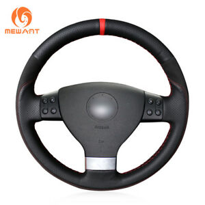 Leather Suede Steering Wheel Cover For Vw Golf 5 Mk5 Passat B6 Tiguan 03142