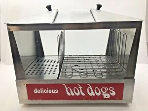 Commercial Star Hot Dog Bun Warmer Steamer Machine Roller Cooker