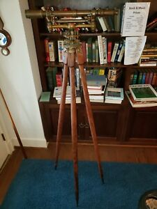 Antique W L E Gurley Brass Surveyor s Transit Marked 94 1486