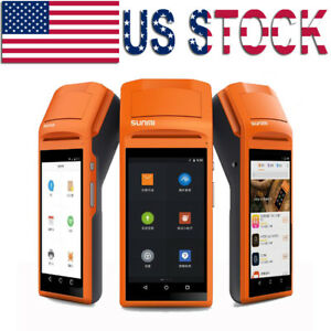 Handheld Android Pos Terminal Bluetooth Receipt Printer With 5 5 Inch Touch Wifi