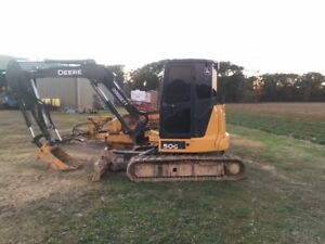 2016 John Deere 50g Mini Excavator Enclosed Cab Hydraulic Thumb