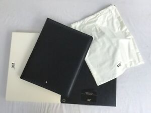 New Montblanc Meisterstuck A4 Black Leather Notepad Holder Conference Folder
