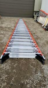 Pick Up Only Werner 20 Ft Fiberglass 300lb T7420 Double Sided Twin Step Ladder