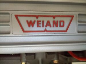 Vintage Weiand Aluminum Small Block Chevy Valve Covers 283 327 350 400 307 Sbc