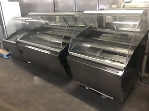 3 Astro Deli Meat Curve Glass Display Coolers