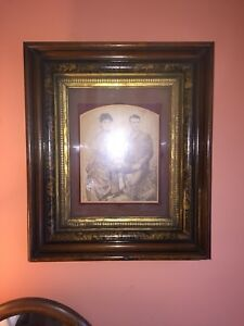 Exceptional Antique Eastlake Shadow Box Large Picture Frame W Gold Gilt 18x21