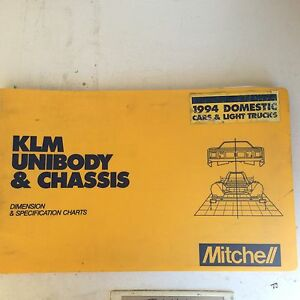 1994 Mitchell Automotive Frame Measuring Book Domestic Trucks And Cars