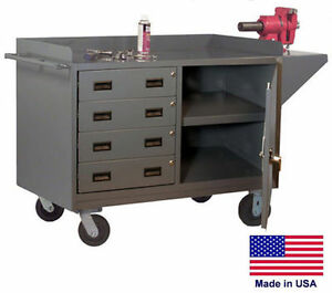 Cabinet Cart Portable Commercial Cabinet 4 Drawers 38h X 60w X 24d