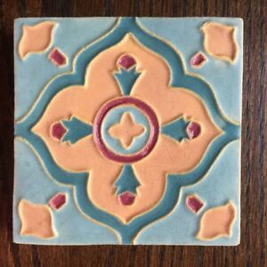 Wheatley Or Solon Schemmel Pottery Arts Crafts Mission Style Tile 4x4