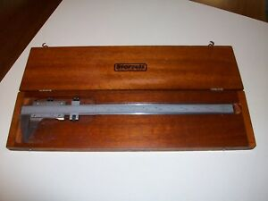 L s Starrett 123 master Vernier Caliper 12 With 14 Graduated Bar wood Case