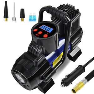 5 Heavy Duty Portable 12v 1 Car Tire Inflator Pump Air Compressor 140w 150 Psi