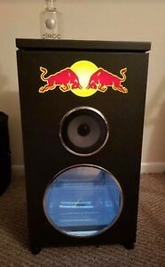 Red Bull Mini Fridge Faux Dj Speaker Cooler Bar Refrigerator Official Authentic
