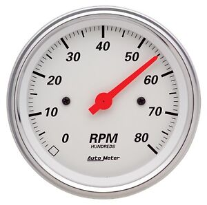 Autometer 1390 Arctic White Electric Tachometer