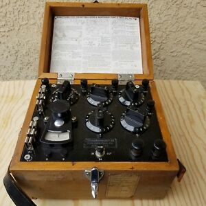 Vintage Leeds Northrup 5300 Type S Test Set Wood Case With Strap Galvanometer