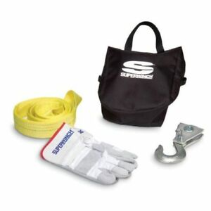 Superwinch 1554 Winch Accessory Kit 9k Lb Pulley Block sling carry Bag glove
