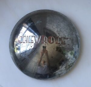 Vintage Chevrolet Hubcaps 4 Red Silver