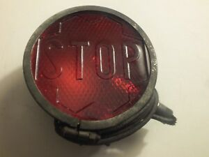 Vintage Glass Stop Tail Light Lens Original Hudson Packard Motorcycle Rat Rod