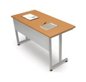 Steel Frame Training Utility Table W Privacy Panel id 377203