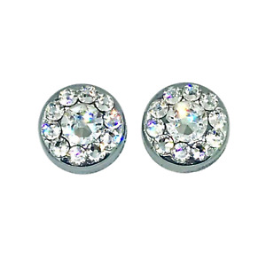 2 Bling License Plate Frame Screw Cap Covers Made With Swarovski Crystals