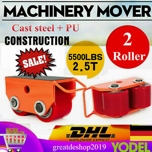 Heavy Duty Machine Dolly Skate Machinery Roller Mover Cargo Trolley 2 5t 2roller