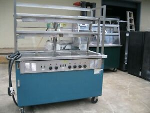 Delfied 60 Commercial Food Warmer With 4 Wells Buffet Compartment Table nsf