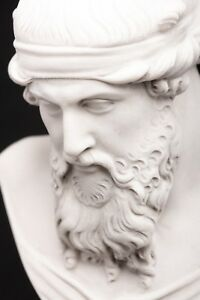 Marble Bust Of Greek Philosopher Plato On A Large Base Classical Sculpture Art