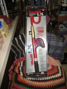The Club 1100 Lx Series Steering Wheel Lock Red Nip