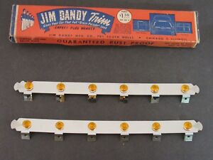 New Old Stock Amber Jeweled Accessory Trim Strips Jim Dandy 1940 s Vintage