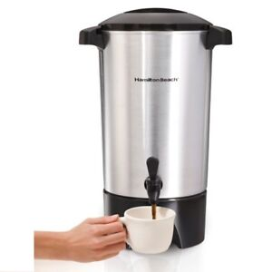 45 Cup Coffee Urn Maker Brewer Dispenser Locking Lid Indicator Commercial Office