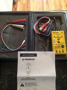 Greenlee Unitest Dr701 Phase Rotation Tester