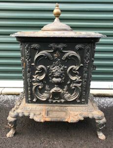 1848 Anthony Davy Co Troy Ny Antique Cast Iron Lady Washington Parlor Stove
