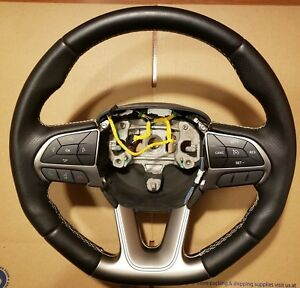 2015 2019 Dodge Challenger Charger Srt Hellcat Leather Steering Wheel Oem Mopar